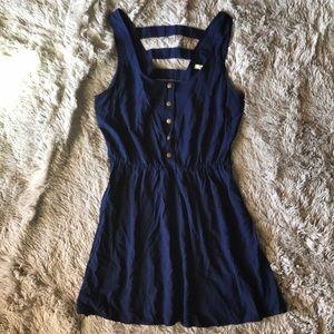 Button-up High Waist Dress